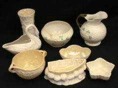 Vintage 8 Assorted Belleek China Various Shapes