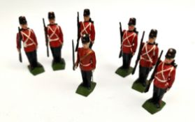 Vintage 7 Britains Cast Metal Toy Soldiers 6cm tall