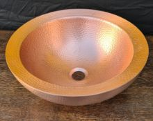 Copper Sink Basin Ideal Garden Planter 16 inches diameter