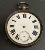 Antiques Silver Cased English Lever Pocket Watch