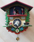 Vintage Small Novelty Wooden Wall Clock