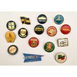 Vintage 15 Assorted Badges