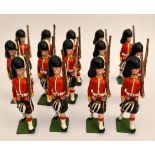 Vintage 13 Britains Style Cast Metal Toy Soldiers 6cm Tall