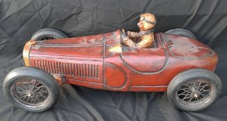 Vintage Display Model Formula 1 1930's Art Deco Style Racing Car