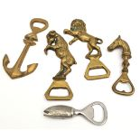 Antiques 5 Assorted Bottle Openers