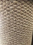 Pasha Light Beige 6M X 4M (19Ft 6In X 13Ff) Polypropylene Loopcontract Hessian Back Carpet