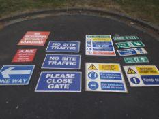 Construction signs job lot