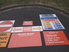 Construction signs job lot 1