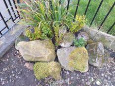 Stone rockery feature