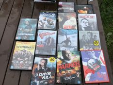 Action movie DVD job lot