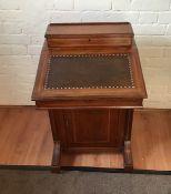 Antique inlaid Davenport style desk.