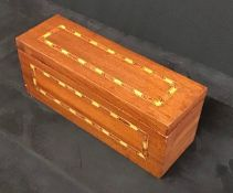 Antique inlaid narrow Jewellery Box.