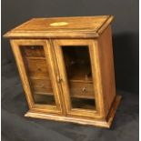 Antique inlaid rosewood smokers cabinet.