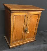 Antique Edwardian inlaid mahogany smokers cabinet.