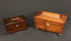 Antique 2 x Victorian Tea Caddies.
