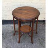 Antique Edwardian circular occaisional table
