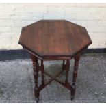 Antique Victorian mahogany side table.