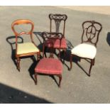 Assortment of Antique chairs - 4 items