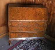 A 20th century drop front bureau