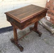 An antique Rosewood lidded consul table