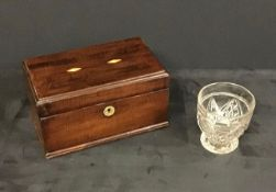 An Antique Tea Caddy & glass mixing bowl