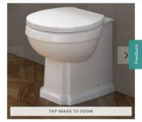 PALLET TO CONTAIN 6 X NEW & BOXED Cambridge Traditional Back to Wall Toilet & White Seat. CCG6...
