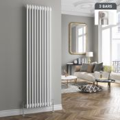 PALLET TO CONTAIN 6 X NEW & BOXED 1800x380mm White Triple Panel Vertical Colosseum Radiator.RR...