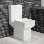 PALLET TO CONTAIN 6 X NEW NEW & BOXED Belfort Close Coupled Toilet & Cistern inc Soft Close Sea...