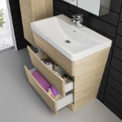 PALLET TO CONTAIN 4 X NEW & BOXED 800mm Austin II Light Oak Effect Built In Sink Drawer Unit - ...