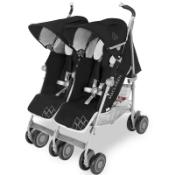 Maclaren Pushchair Twin Techno Black Built For Comfort/Performance For 2 Rrp £450