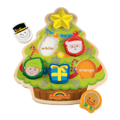 Elc Happyland Christmas Wooden Puzzle Rrp £24.99