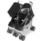 Maclaren Pushchair Twin Techno Black Built For Comfort/Performance For 2