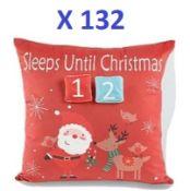 132 x Super-Soft Christmas Cushions RRP £1318
