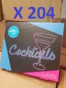 204 x Multi-Function LED Cocktail Signs RRP £3060