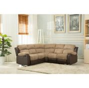 Brand new boxed California reclining corner sofa in brown/moccha