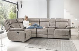 Brand new boxed Cheltenham dark grey electric reclining corner sofa 1c2