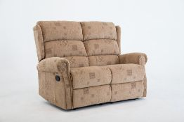 Brand new boxed cambridge 2 seater reclining sofas in soho patchwork fabric
