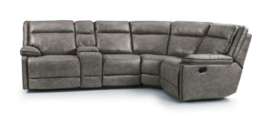 Brand new boxed cheltenham dark grey electric reclining corner sofa 2c1