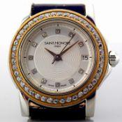 Saint Honore / Diamond - Lady's Gold/Steel Wrist Watch