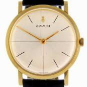 Corum / Vintage 18K / 5439 23 - Gentlmen's Yellow gold Wrist Watch