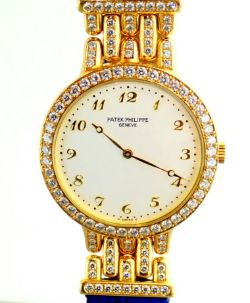 Patek Philippe / 18K Calatrava Diamond - Lady's Yellow gold Wrist Watch