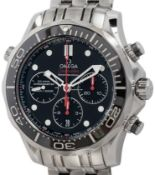 Omega / Seamaster Professional Diver 300M Co-Axial Chronograph 212.30 - Gentlmen's Steel Wrist Watch