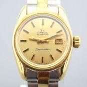 Omega / Seamaster - Lady's Gold/Steel Wrist Watch
