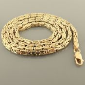 24.4 In (62 cm) Byzantine Chain Necklace. In 14K Yellow Gold