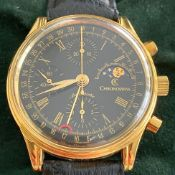 Chronoswiss / Moonphase Full Set - Gentlmen's Gold-filled Wrist Watch