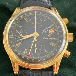 Chronoswiss / Moonphase Full Set - Gentlmen's Gold-filled Wrist Watch