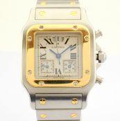 Cartier / Santos Galbee Chronoflex 18k Gold Steel chronograph - Gentlmen's Gold/Steel Wrist Watch