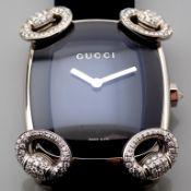 Gucci / Horsebit Diamond - Lady's White gold Wrist Watch