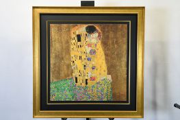 "Gustav Klimt ""Gold Leaf"" Limited Edtion ""The Kiss"""