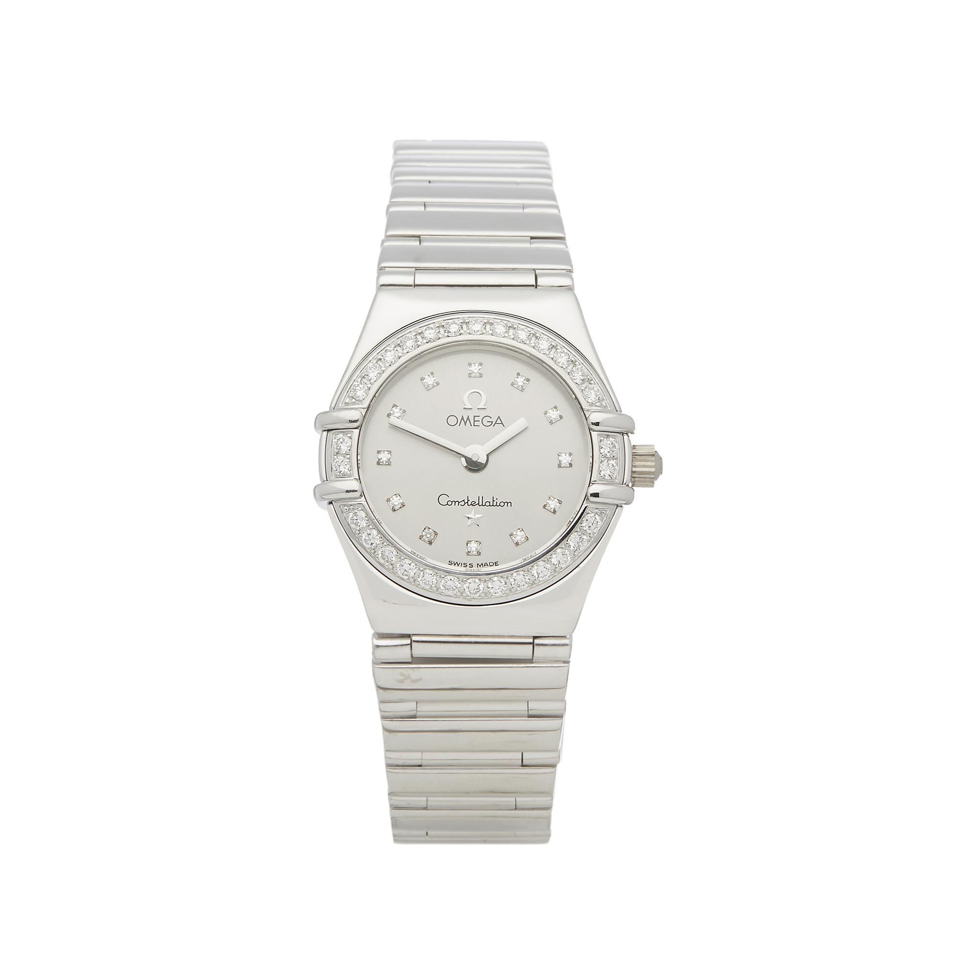 Omega Constellation 0 1165.36 Ladies White Gold Diamond Watch - Image 7 of 7